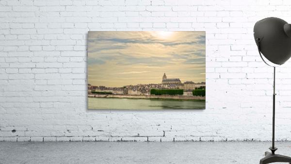 Cathedrale Saint Louis Across the Loire - Sunset France
