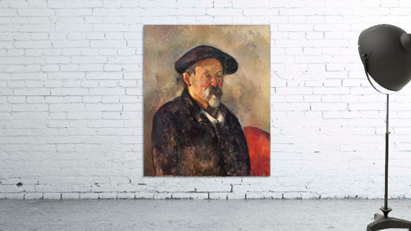 Self Portrait with Beret by Cezanne