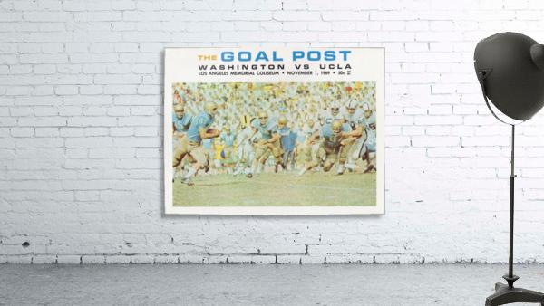 1969 UCLA vs. Washington Football Program Cover Art