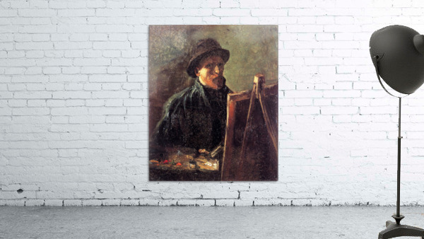 Self-Portrait with Dark Felt Hat at the Easel by Van Gogh