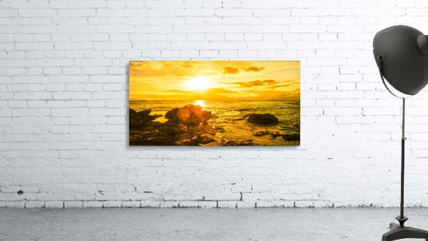 Majestic Sunset Panorama - Sunset Hawaiian Islands