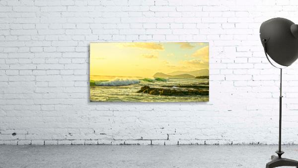Perfect Day Panorama - Sunset Hawaiian Islands