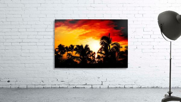 Fire in the Heavens - Sunset Hawaiian Islands