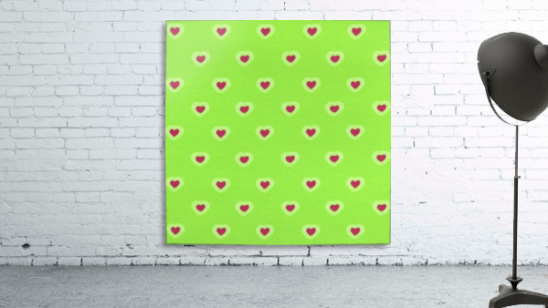 Hearts - Lime - Red