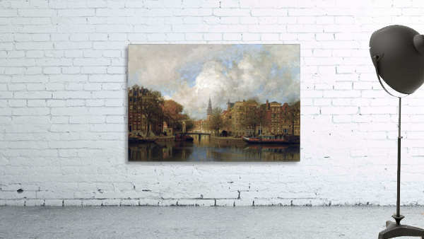 A View of the Groenburgwal with the Zuiderkerk, seen from the River Amstel, Amsterdam