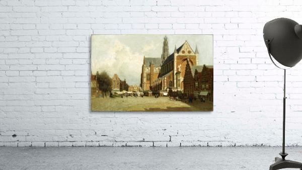 Market in Amsterdam near Saint Bavo Church