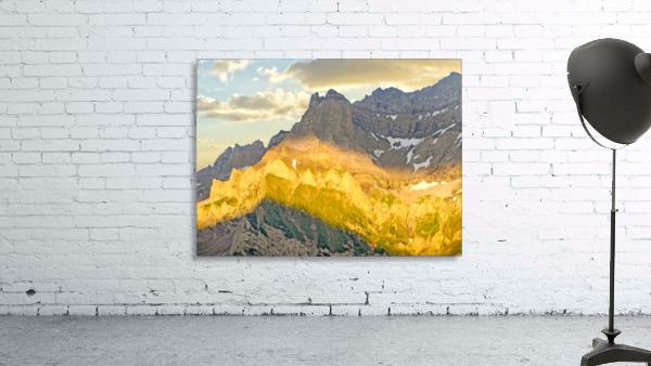 Golden Rays of the Sun Across the Swiss Alps