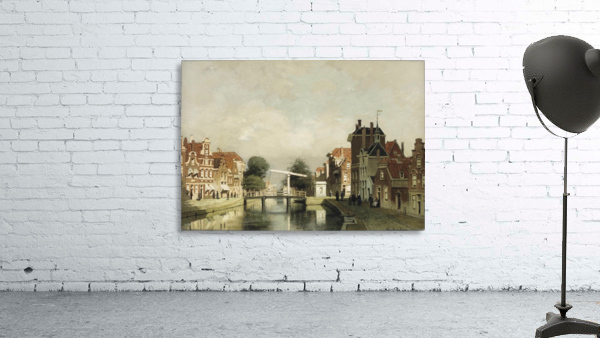 A sunlit canal with a draw-bridge