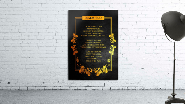 Psalm 37:3- 5 Bible Verse Wall Art