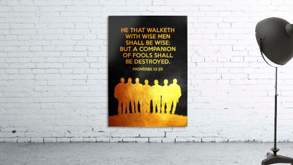 Proverbs 13:20 Bible Verse Wall Art