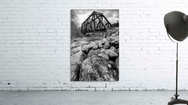 Train Bridge ap 2225 B&W
