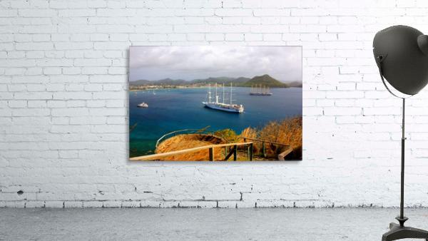 Tall ships at anchor Rodney Bay Landscape
