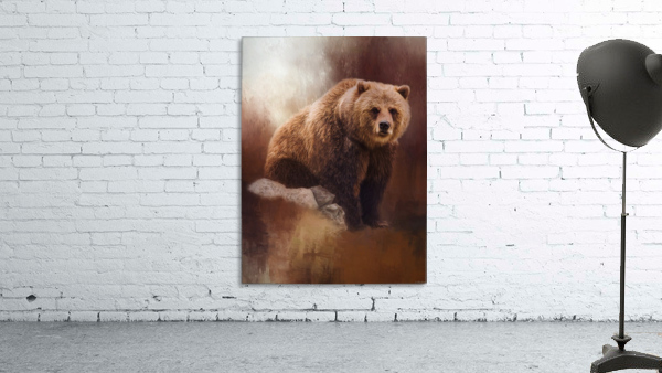 Great Strength - Grizzly Bear Art by Jordan Blackstone
