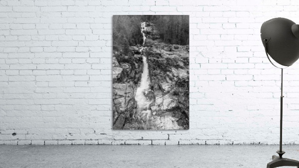 Silver Cascade Falls ap 2226 B&W