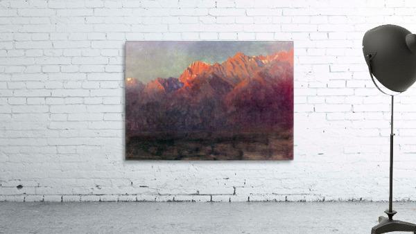 Sunrise in the Sierras by Bierstadt