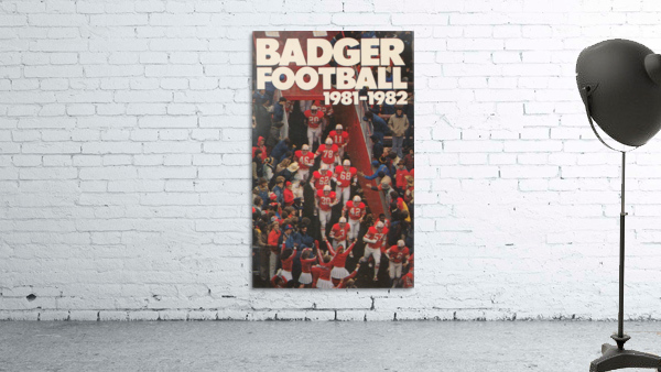 1981 Wisconsin Badgers Football Poster