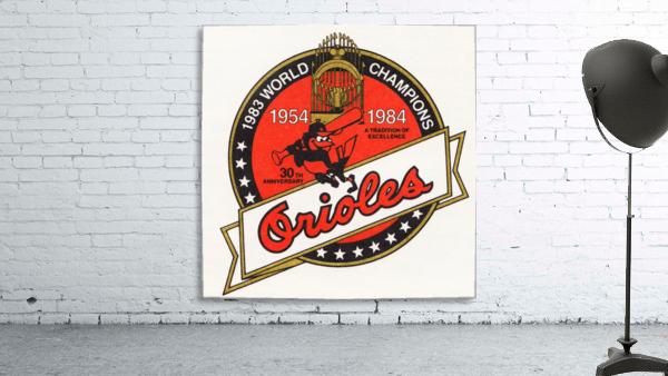 1983 Baltimore Orioles World Champions Art
