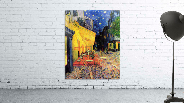 The Cafe Terrace on the Place du Forum Arles at Night by Van Gogh