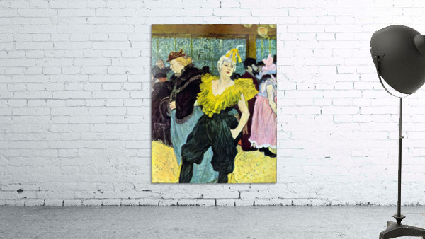 The clowness by Toulouse-Lautrec