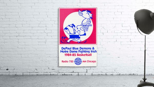 1984 DePaul Notre Dame Basketball WGN Poster