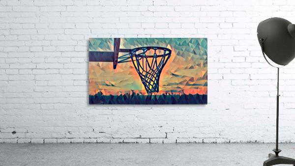 basketball hoop sunset