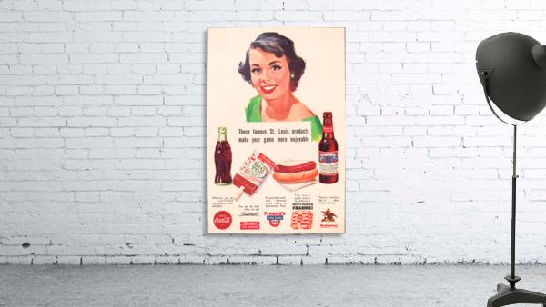 Vintage St. Louis Sportsman Park Concessions Ad