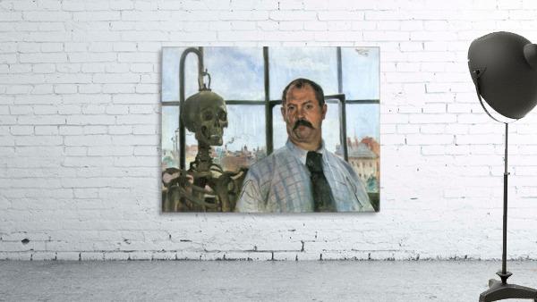 Self Portrait with Skeleton by Lovis Corinth