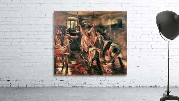 Slaughterhouse by Lovis Corinth
