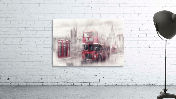 City-Art LONDON Westminster Collage II Print