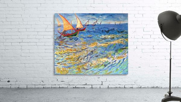 The sea at Saintes-Maries by Van Gogh