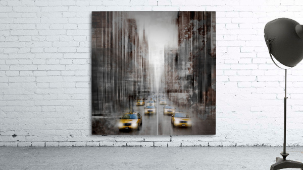 City-Art NYC 5th Avenue Traffic Print