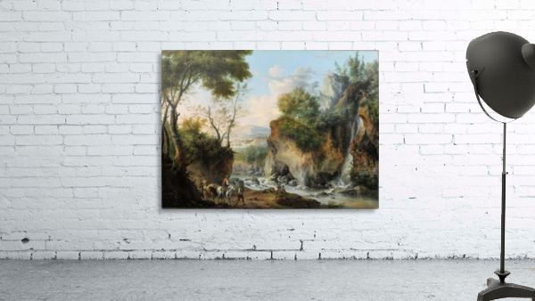 Landscape with figures along a river