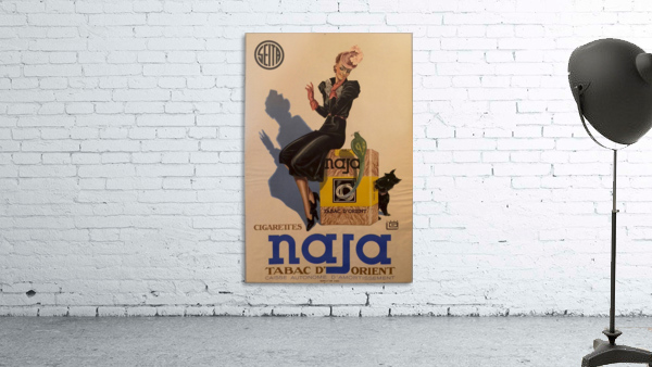 Advertisement Poster for Naja by Lelong, 1939