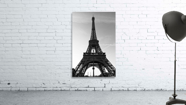 Eiffel tower in black