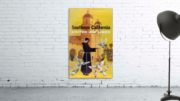 United Air Lines Southern California Monk