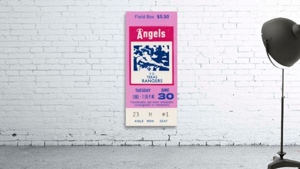 1981 California Angels vs. Texas Rangers Ticket Stub Canvas