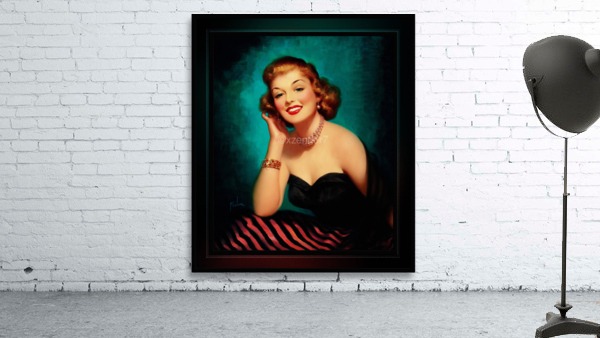 Evening Glamour Girl by Art Frahm Glamour Pin-up Vintage Art