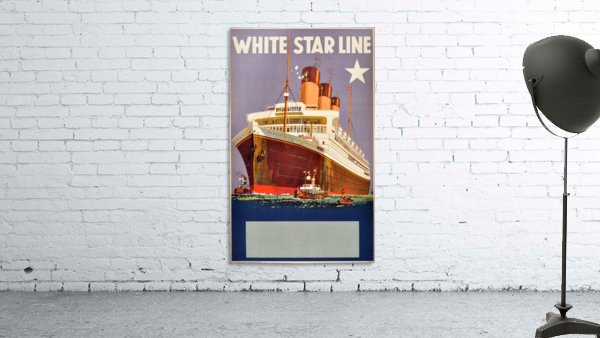 Original Vintage 1920 Travel Advertising Poster For White Star Line Cruises