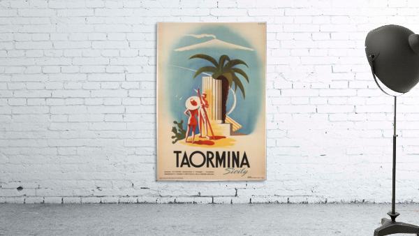 Taormina, Sicily Vintage Italian Travel Print