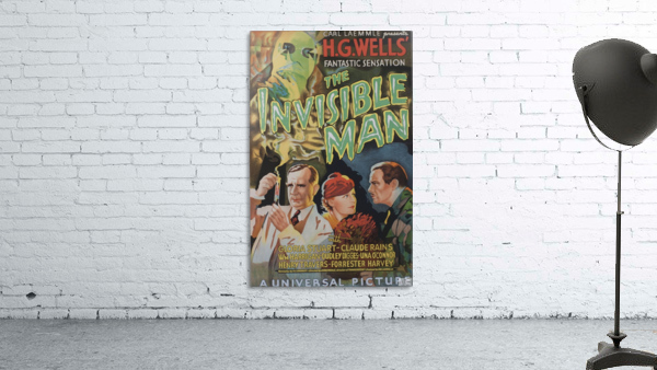 The Invisible Man Universal Picture Carl Laemmle vintage movie poster