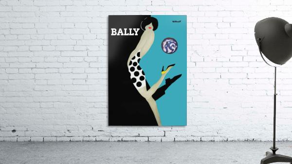 Vintage Bally Poster Giclee Print Aqua Blue