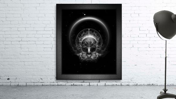 Gothic Skull Blaze Abstract Digital Art Composition