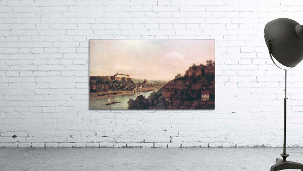 View of Pirna -1- by Canaletto