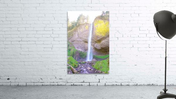 Majestic Falls in the Gorge   Columbia River Oregon