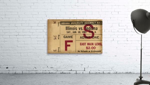 1981 Indiana vs. Illinois Basketball Ticket Art