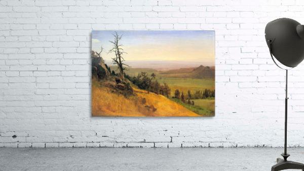 Wasatch Mountains Nebraska by Bierstadt