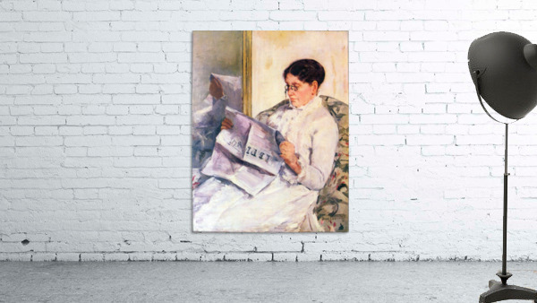 When reading of Figaro by Cassatt
