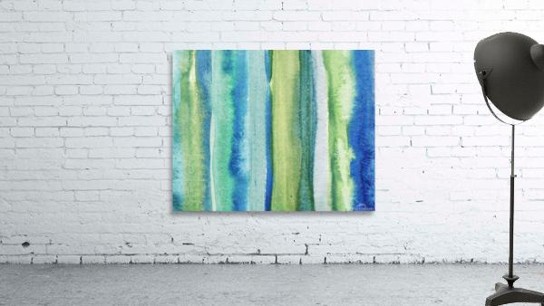 Ocean And Sea Beach Coastal Art Organic Watercolor Abstract Lines I