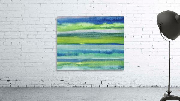 Ocean And Sea Beach Coastal Art Organic Watercolor Abstract Lines II