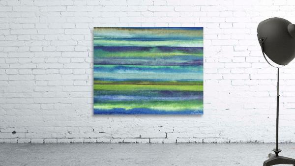 Ocean And Sea Beach Coastal Art Organic Watercolor Abstract Lines VI